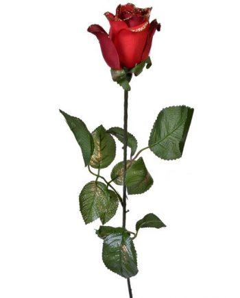 trandafir-artificial-rosu-sclipici-decoratiune